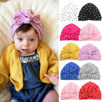 AU Cute Newborn Toddler Kids Baby Boy Girl Turban Cotton Beanie Hat Winter Cap