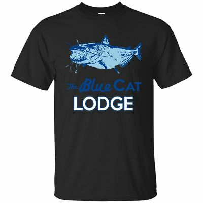 Color Black, Navy T-Shirt Ozark Blue Cat Lodge Men Short Sleeve Size S-3XL