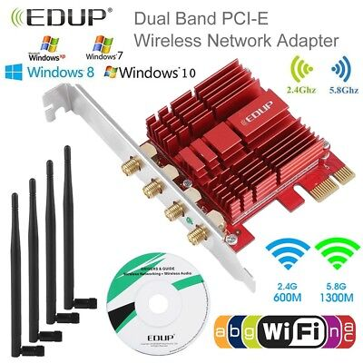 2.4GHz/5.8GHz Dual Band 1900Mbps Wireless PCI Express WIFI Adapter Network Card