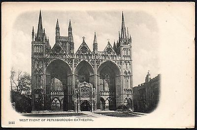 Postcard - Cambridgeshire - West Front of Peterborough Cathedral