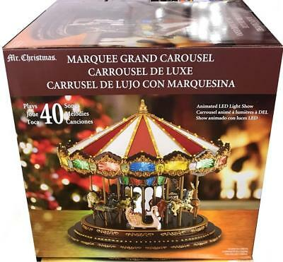 Marquee Grand Carousel with 40 songs and Animated Led Light Show Xmas Decoration