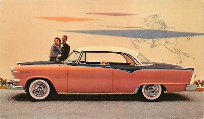 Dodge Flashed Ahead In Style-1955 Custom Royal Lancer Postcard