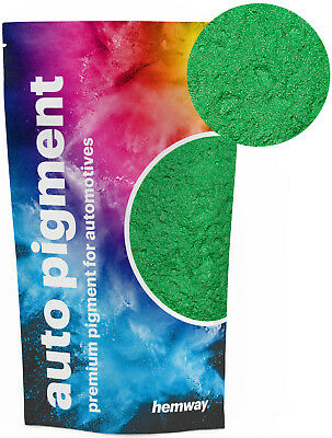 Hemway Automotive Powder Pigment Metallic Apple Green for Pearl Auto Paint 100g