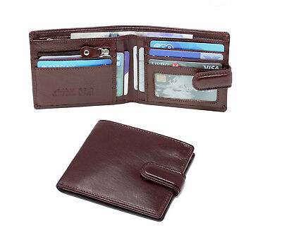 StarHide Men RFID Distressed Leather Wallet With Large Zipper Coin Pouch 1180