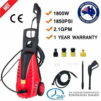 High Pressure Water Cleaner 1850PSI Washer Electric Pump 3M Hose 5M Cable 2.1GPM