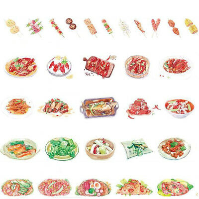 Midnight Snack Illustration Chinese Foodie Recipe Washi Tapes Paper Craft DIY AU