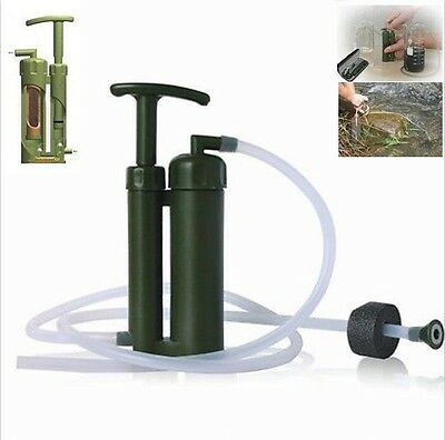 Portable outdoors Water Purifier Purification Pump Filter Backpacking Camping