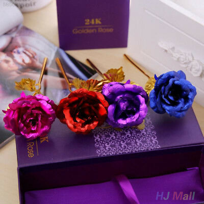 8D7E FOREVER 24k Gold Plated Rose Unique Gift Anniversary FOR Girlfriend Mums +