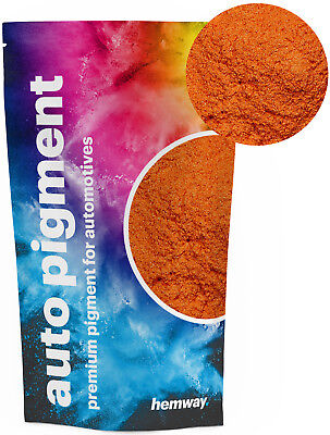 Hemway Automotive Powder Pigment Metallic Tangerine Orange Pearl Auto Paint 50g