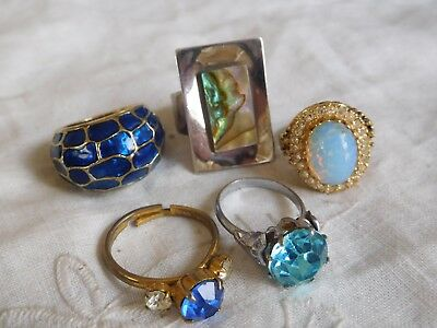 Lovely Collection of Vintage 1950s /60s Dress Rings