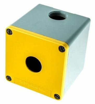 Schneider Electric Harmony XAP Push Button Enclosure, 1 Hole Yellow, 22mm diamet