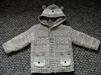 9-12 Month Cardigan in grey. NEW with TAGS