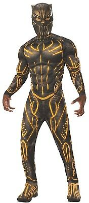Mens Official Deluxe Killmonger Black Panther Marvel Fancy Dress Costume Outfit