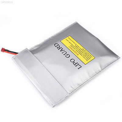 0DB8 LiPo Battery Fireproof Guard Bags Double Sided Pouch Sack 23x30CM Silver