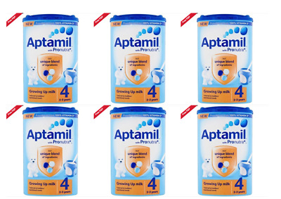 6 x Aptamil Growing Up Milk Powder Stage 4 - 2-3 Years 800g - Old Formula-