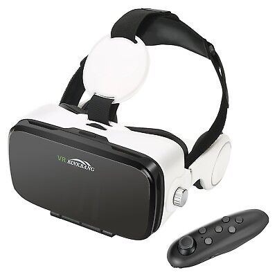 AOGUERBE VR Glasses, Virtual Reality Headset VR Goggles Box Bluetooth Control...