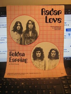 Sheetmusic , Radar  Love . Golden Earring