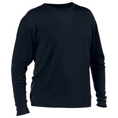 Minus 33 Mid Weight Crew Neck Mens Merino Base Layer Shirt Black