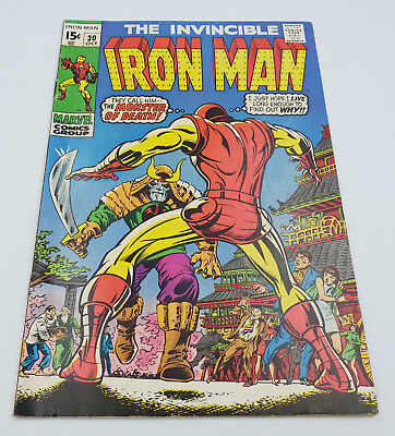 Iron Man #30 Silver Age Marvel Comics Don Heck F/VF