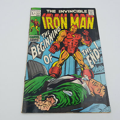 Iron Man #17 Silver Age Marvel Comics 1st appearance of Madam Maasque F+