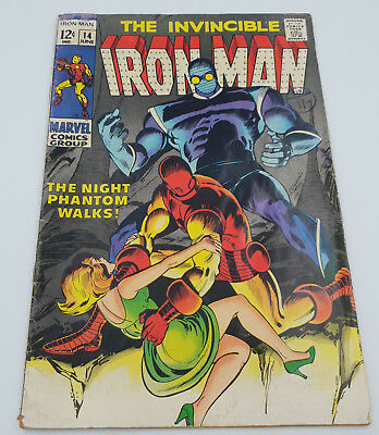Iron Man #14 Silver Age Marvel Comics 1st Appearance of Night Phantom VG+