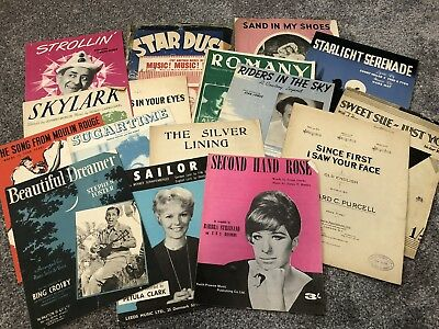 Huge Collection 100+ Sheet Music Booklets 1940s-1960s Golden Era Classics #B