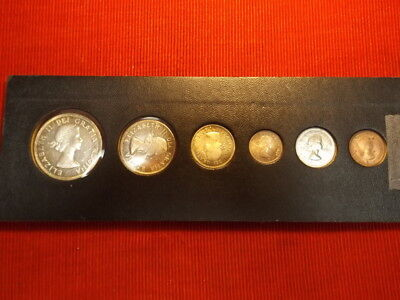 1964 Canadian coin set in holder