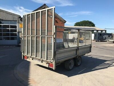 """Used Indespension 10 x 6' 6""""-Twin Axle - Mesh sides - high ramp"""