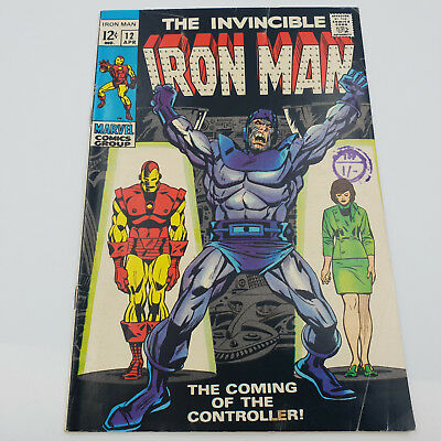 Iron Man #12 Silver Age Marvel Comics st Appearance of The Controller F+