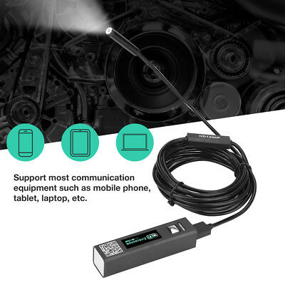1200P 8LED WiFi Endoscope 2MP HD Borescope USB Inspection Camera IP68 Waterproof
