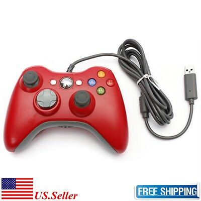 New USB Game Pad Controller For Microsoft Xbox 360 Console / PC Windows Red