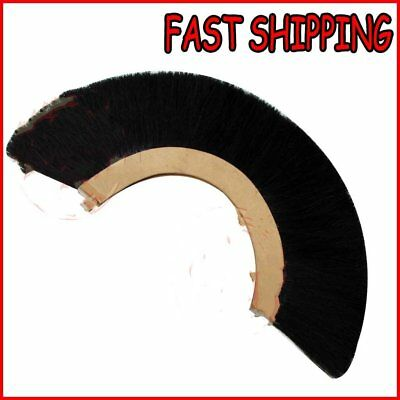 "BLACK PLUME""CREST BRUSH Synthetic Polyester Hair For ROMAN CENTURION HELMET"