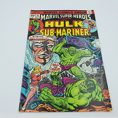 Marvel Super-Heroes #45 Hulk & Sub-Mariner Bronze Age Comics Stan Lee VF-