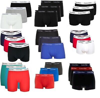 CK Calvin Klein Herren Boxershorts Trunks oder Low Rise Trunks 3er Pack S-XL