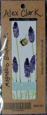 Bumble Bee with Lavender Small Magnetic bookmark Alex Clark Xmas Gift 8 cm