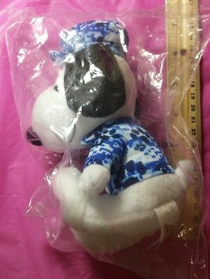Snoopy Plush toy 7 Inch New MetLife blue Hat Peanuts