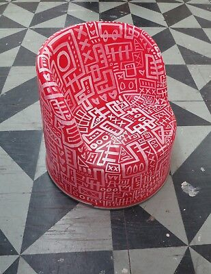Rob Pruitt's Flea Market: Oliver Sheehan Hand Painted Ikea Chair #3 white/red