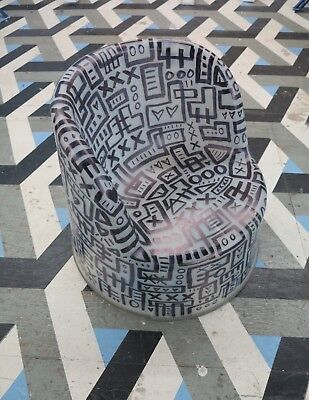 Rob Pruitt's Flea Market: Oliver Sheehan Hand Painted Ikea Chair Black/White