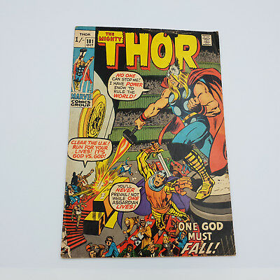 The Mighty Thor #181 Bronze Age Marvel Comics Neal Adams F-