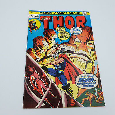 The Mighty Thor #215 Bronze Age Marvel Comics 1st Appearance of Xorr VG