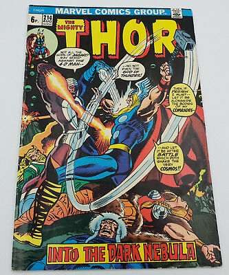 The Mighty Thor #214 Bronze Age Marvel Comics Sal Buscema F/VF