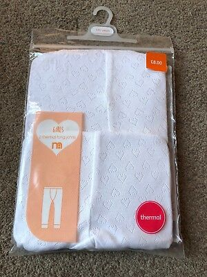 Mothercare Baby Toddler Girls Long Johns Thermal Leggings 12-18 Months