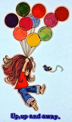 """Original """"Up,Up And Away."""" Iron On Transfer *Balloons*"""