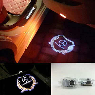 2PCS Projector Ghost Shadow Light Door Logo For Mercedes benz S-Class 2006-2013