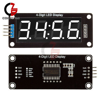 "White 0.56"" inch TM1637 Digital 4-Bits LED Clock Tube Display 5V for Arduino"