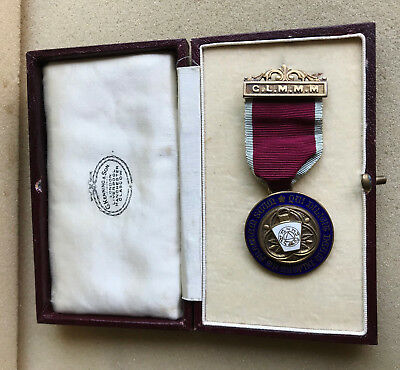 Grand Lodge of Mark Master Masons Solid silver Medal 1959