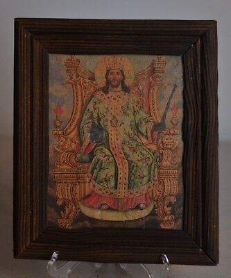 painting Symbolizes To Christ He sits on the throne On his head is a crown rare