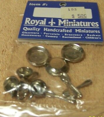 NEW Cute Miniature Set of 12 Metal TABLE SETTING for DOLL HOUSE