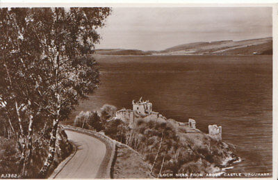 Scotland Postcard - Loch Ness from Above Castle Urquhart - Real Photo  Ref 3252A