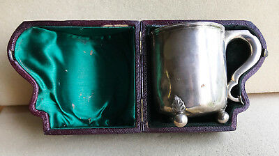 Antique silver cup in a fitted case 1868 maker HENRY HOLLAND